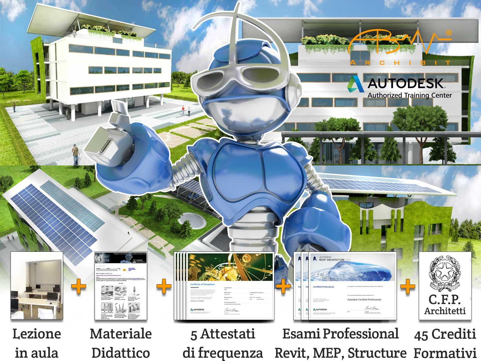 Corso Master Revit BIM Manager - Archibit Generation centro corsi Autodesk Roma - Revit Architecture Revit MEP revit Structure Navisworks