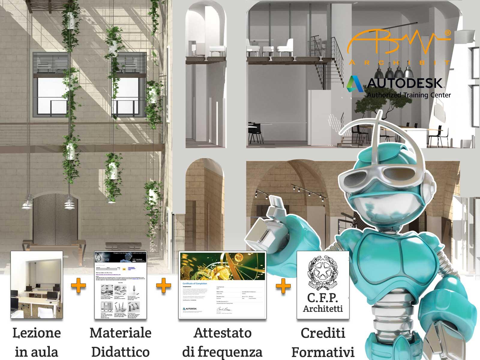 Corso Autodesk 3ds Max Archibit centro corsi formazione ufficiale autodesk bim modellazione e gragica 3d a roma