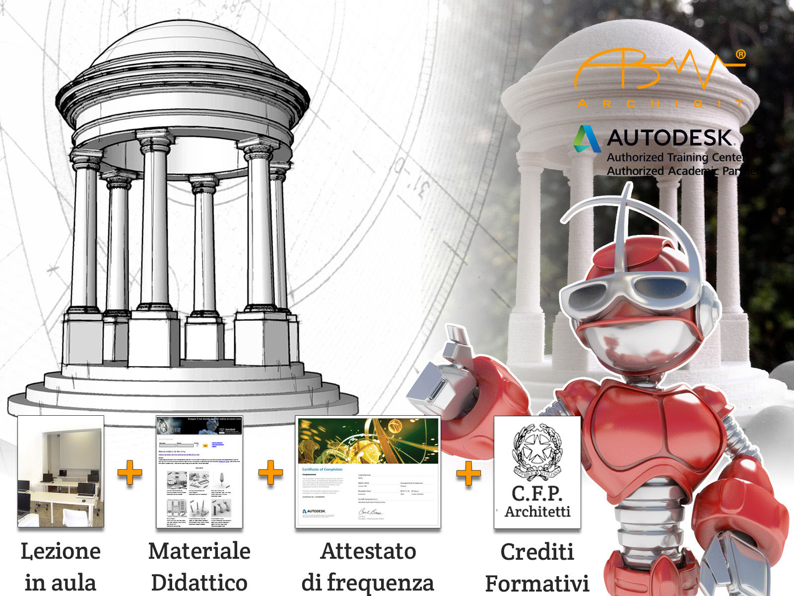 corso autocad 3D cad centro corsi autodesk roma crediti formativi professionali architetti