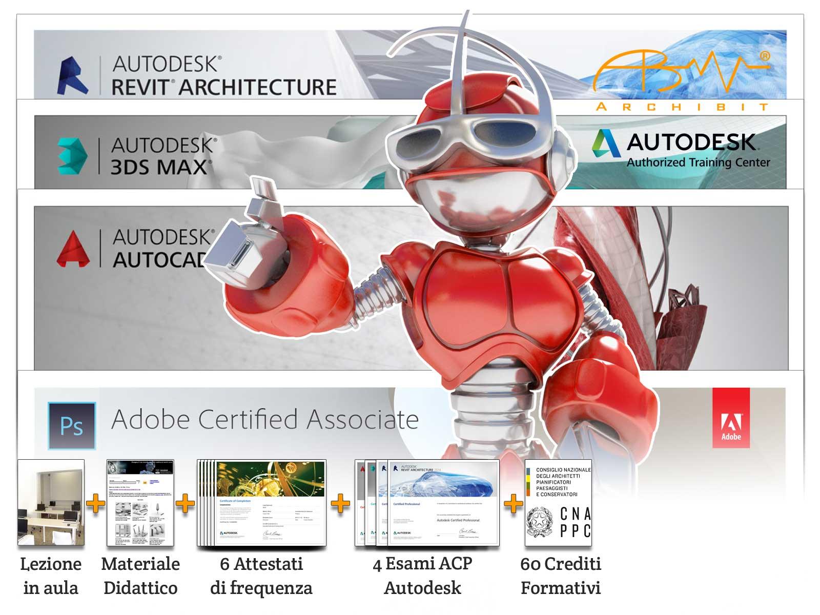 master-archibit-autodesk-adobe-qualifiche-professionali-regione-lazio-certificazioni-professional-bim-cad-revit-3ds-max-photoshop-corsi-grafica-roma
