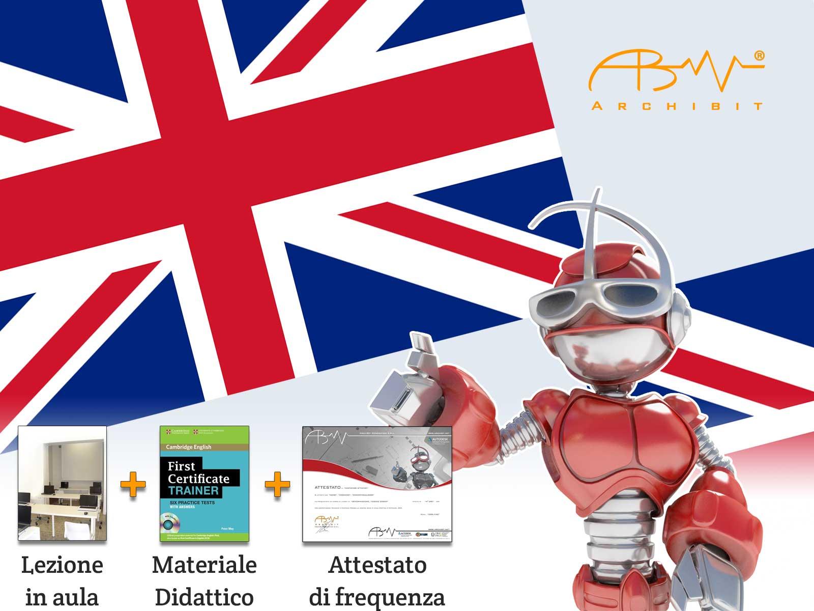 Corso inglese preparazione esame first certificate livello b1 b2 archibit centro corsi accreditato regione Lazio CNAPPC crediti formativi