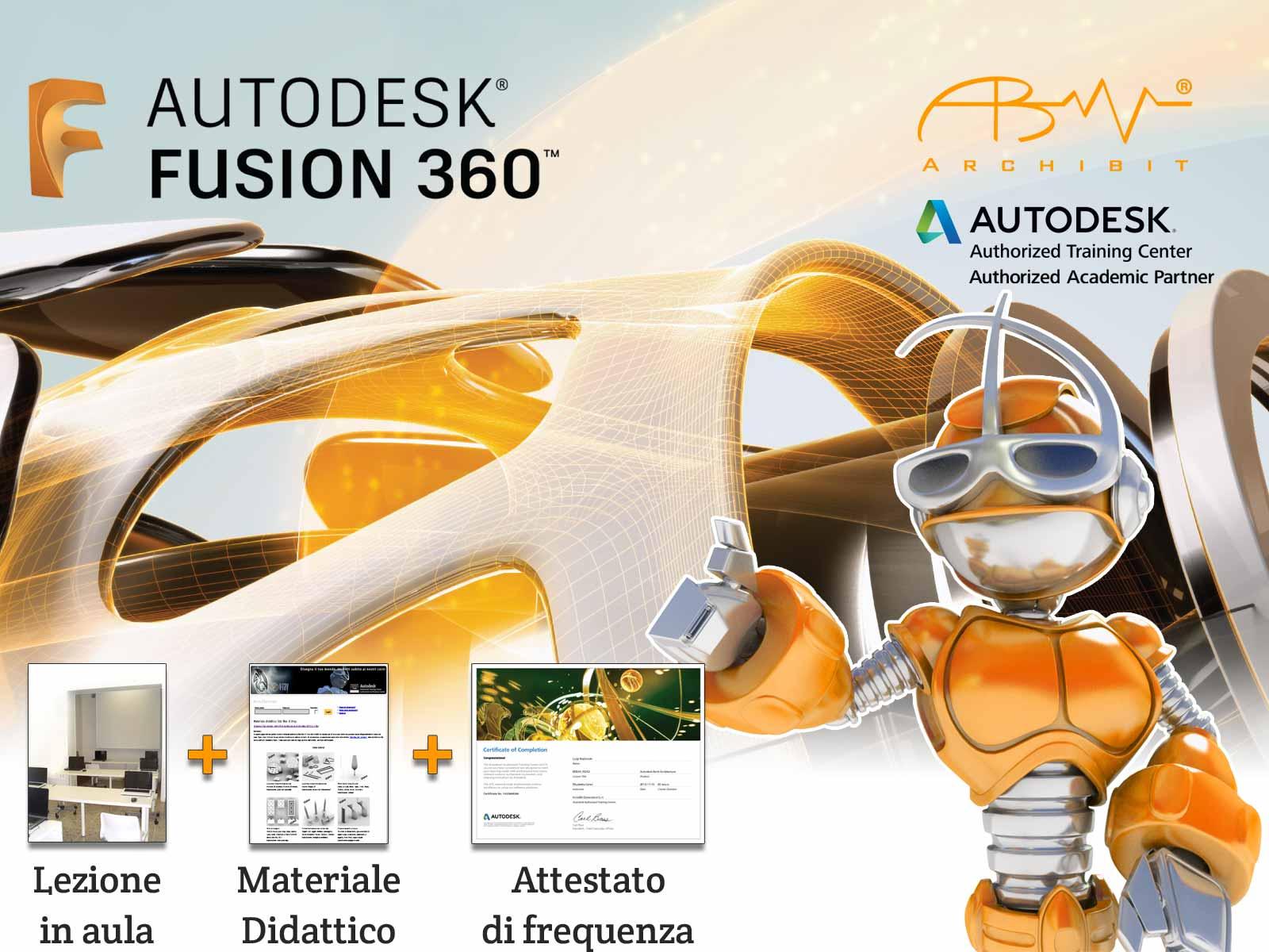 workshop fusion 360 gratis corso autodesk fusion360 archibit centro corsi autodesk roma