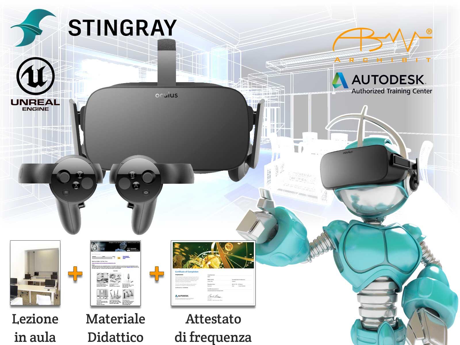 Corso realtà virtuale architettonica VR360 da Revit a Unreal Engine e Stingray - Archibit Generation centro corsi vr 360 Autodesk Roma