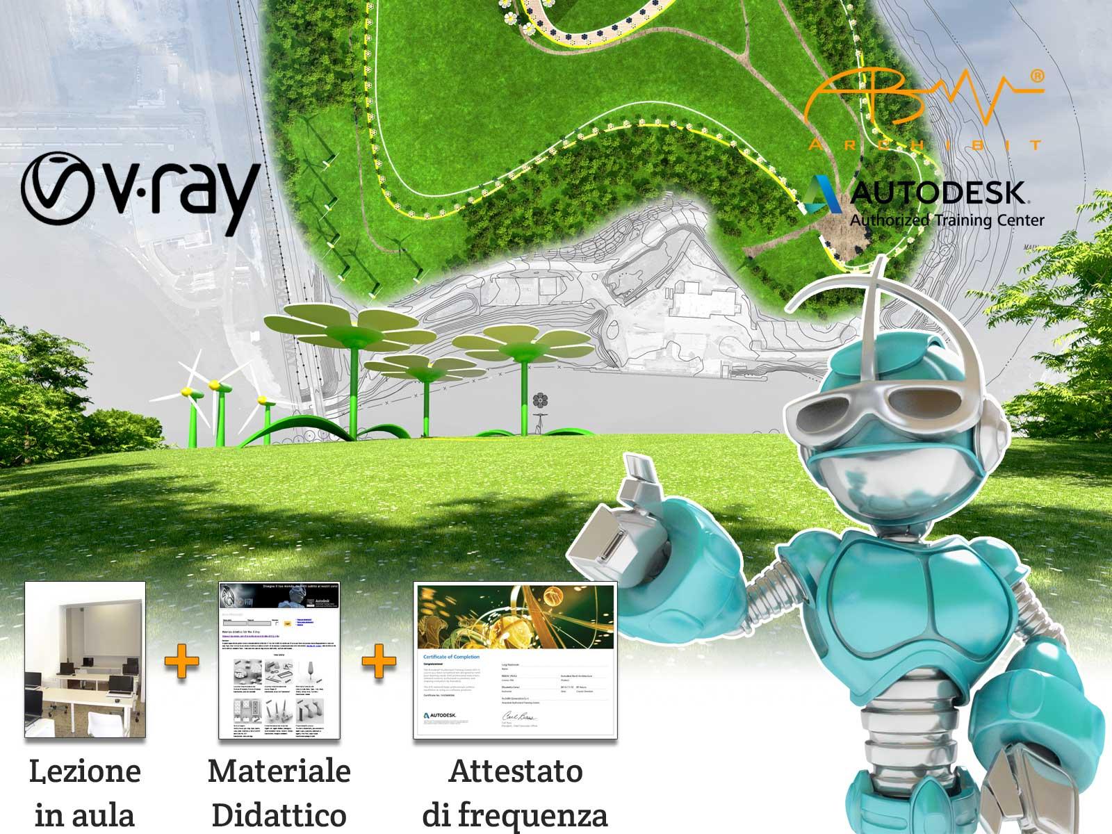 Corso V-Ray per 3ds Max - ArchiBit centro corsi Autodesk 3ds max e Vray a roma