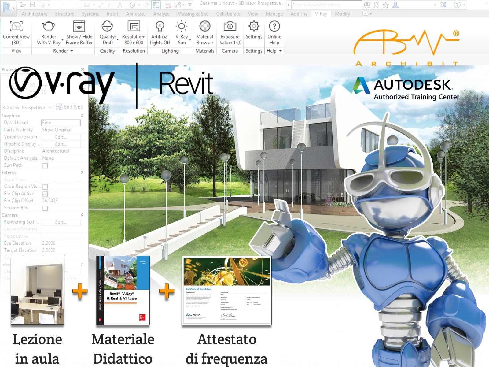 Corso V-Ray per Revit - ArchiBit centro corsi Autodesk Revit e Vray e Realtà Virtuale VR a roma