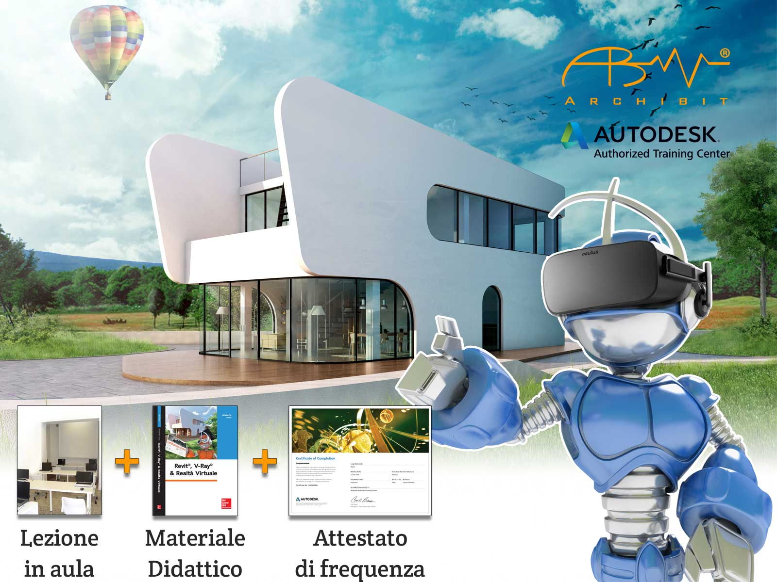 Corso V-Ray per Revit - ArchiBit centro corsi Autodesk Revit e Vray e Realtà Virtuale BIM VR a roma