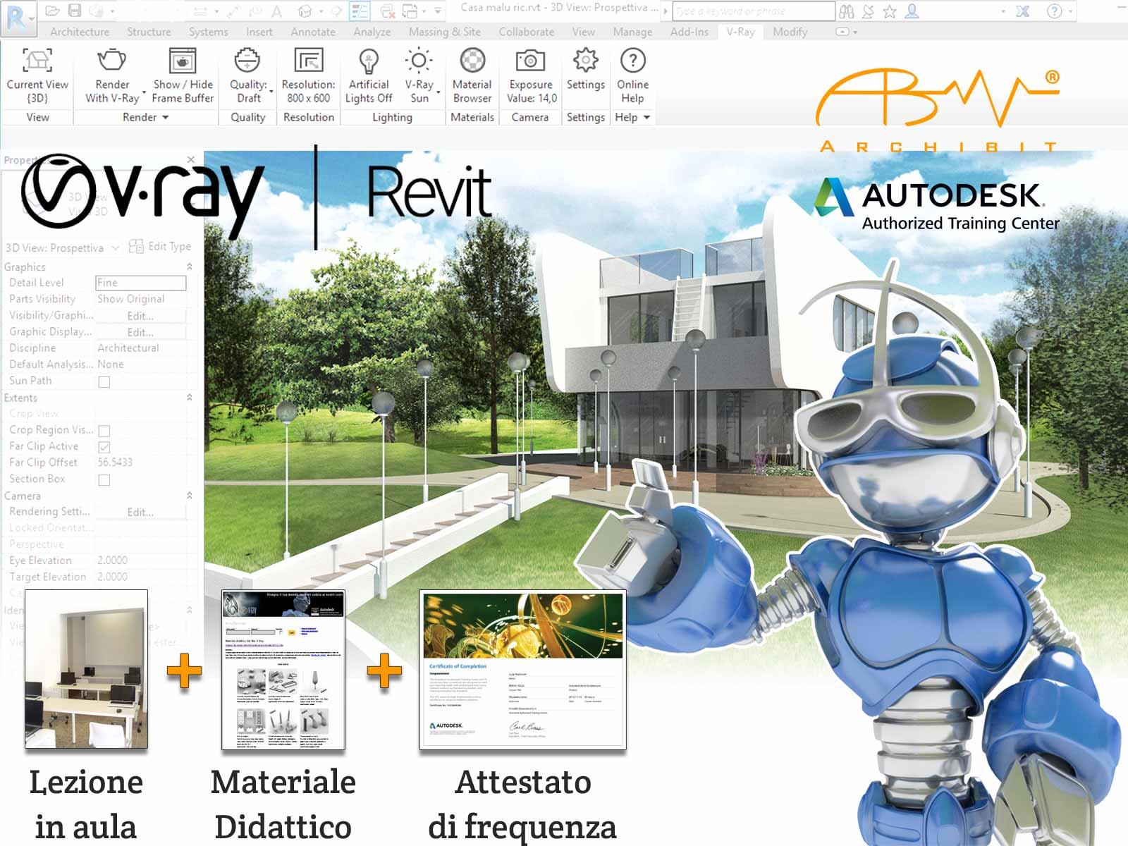 Corso V-Ray per Revit - ArchiBit centro corsi Autodesk Revit e Vray a roma