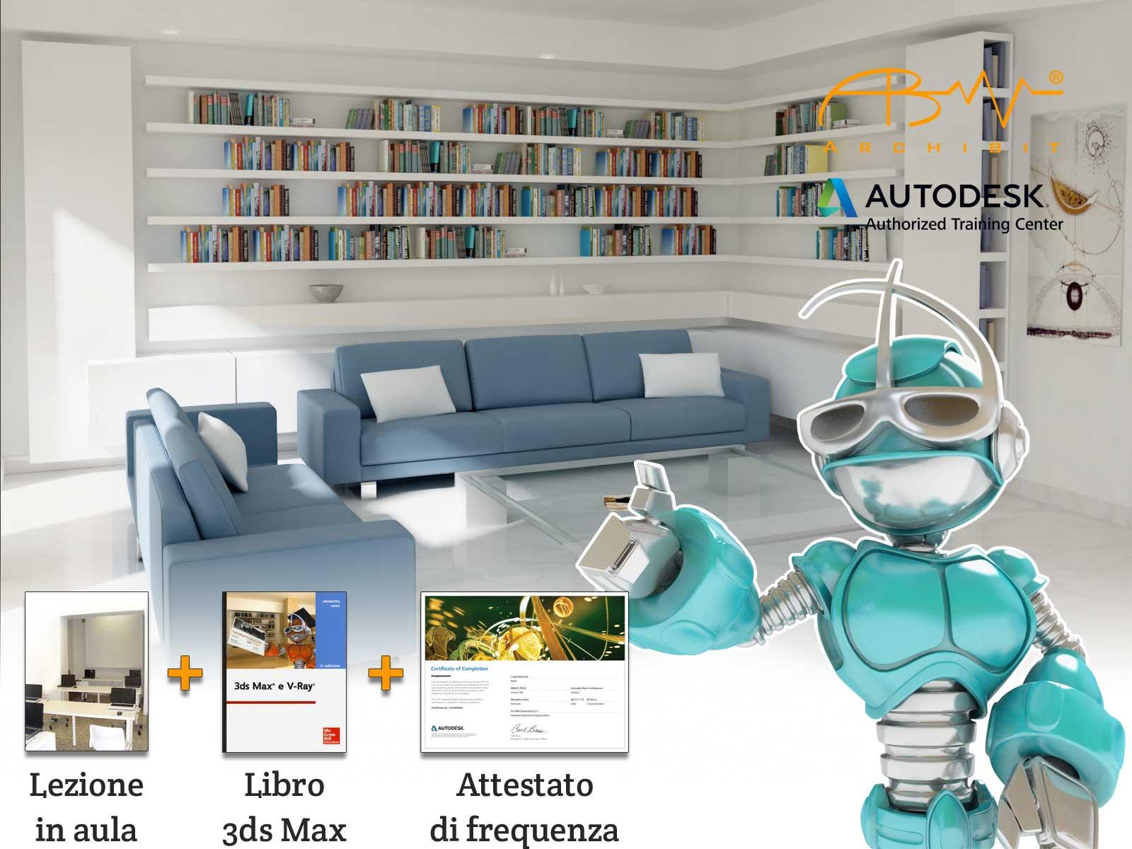 corso 3ds max modellazione 3d a roma archibit centro corsi autodesk 3d studio max