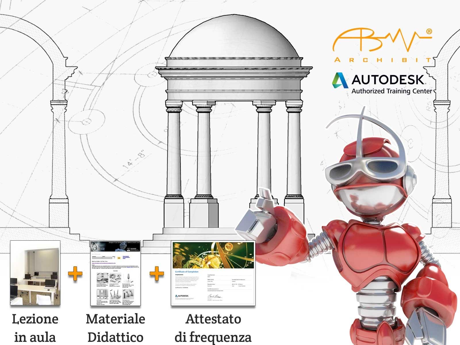 corso certificato autoCAD 2D archibit centro corsi autodesk roma