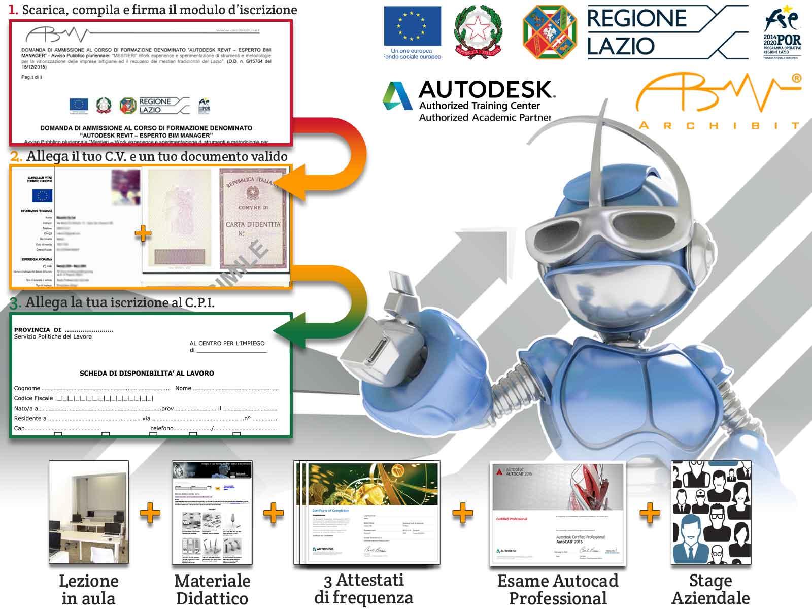 2-bando-mestieri-corso-gratuitoBim-Manager-Esperto-Revit-Architecture-regione-lazio-certificazioni-autodesk-professional-cad-revit-3ds-max-archibit-corsi-roma